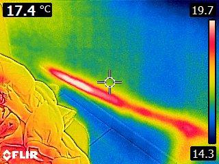 vision thermique fuite
